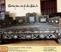 giường tam sơn gỗ cẩm khảm ốc